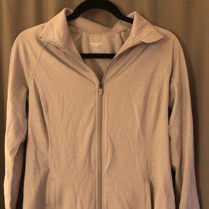 Old Navy activewear grey full zip jacket
